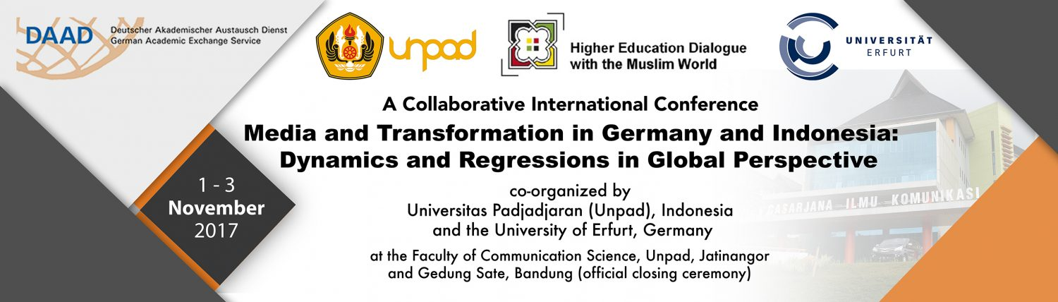 Media Expert Erfurt panel lectures media and transformation in germany and indonesia
